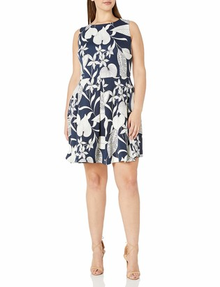 Taylor Dresses Women's Plus Size Sleeveless fit and Flare Print