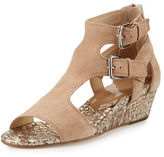 Donald J Pliner Eden Dual-Buckle Wedge Sandal