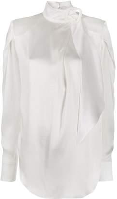 MATÉRIEL tie neckline blouse