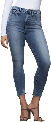 Good American Good Waist High Waist Crop Skinny Jeans