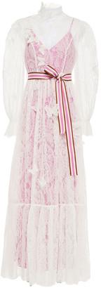 Zimmermann Grosgrain-trimmed Corded Lace Maxi Dress