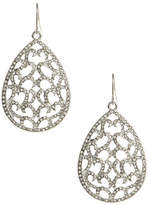 ABS by Allen Schwartz Openwork Pave Tear Drop Earrings