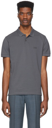 BOSS Grey Piro Regular-Fit Polo