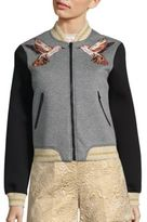 RED Valentino Cotton Applique Bomber Jacket