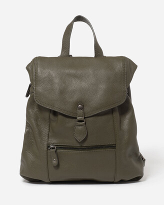 Stitch & Hide - Women's Black Leather bags - Willow Backpack - Size One Size at The Iconic