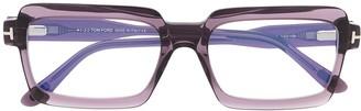 Tom Ford Square-Frame Panelled Glasses