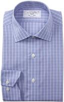 Lorenzo Uomo Textured Windowpane Trim Fit Dress Shirt
