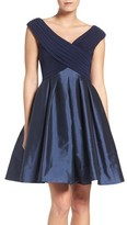 Adrianna Papell Women's Jersey & Taffeta Fit & Flare Dress