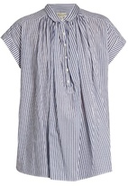 Nili Lotan Normandy striped cotton shirt