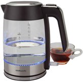 Cookworks Stainless Steel and Glass Kettle
