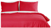 Epoch Hometex Lotus Home Water and Stain Resistant Duvet Cover Mini Set, Red, King