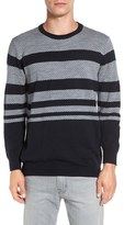 French Connection Men's 'Gio Fair Isle' Stripe Wool Blend Sweater
