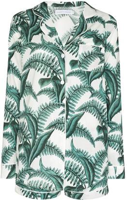 Desmond & Dempsey Fern print pyjama set