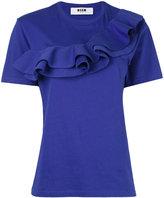MSGM ruffled T-shirt - women - Cotton - M