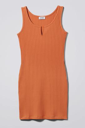 Weekday Carnegie Dress - Orange
