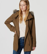 LOFT Faux Fur Trim Anorak