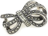 "Judith Jack Bejeweled Brooches"" Marcasite and Crystal Bow Brooch"