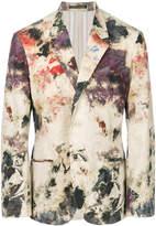 Yohji Yamamoto tie dye print blazer