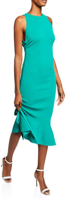 Milly Plus Size Sleeveless Bodycon Dress with Shirred Side