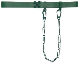 Off-White Green Chain Arrows Belt