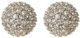 Judith Jack Sterling Silver Pave Crystal Fireball Stud Earrings