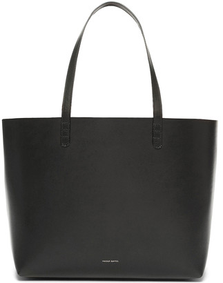 Mansur Gavriel Coated Large Tote in Black & Ballerina | FWRD
