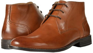Nunn Bush Savage Plain Toe Chukka Boot (Cognac) Men's Dress Lace-up Boots