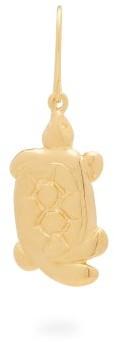 Aurelie Bidermann Turtle 18kt Gold-plated Single Earring - Gold