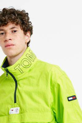 Tommy Jeans Acid Lime Popover Jacket - green L at Urban Outfitters