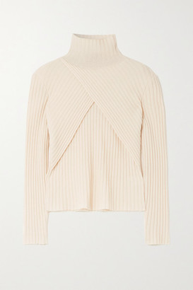 ENVELOPE1976 Son Wrap-effect Cashmere Sweater - Cream