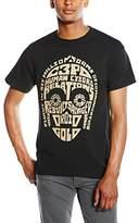 Star Wars Men's C-3PO Text Head Short Sleeve T-Shirt