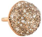 Alexis Bittar Domed Crystal Encrusted Cocktail Ring