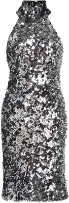 Galvan Gemma Sequined Jersey Mini Dress