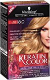 Schwarzkopf Keratin Hair Color, Silky Blonde 8.0, 2.03 Ounce by