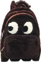 Anya Hindmarch Backpack Mini Ghost in Burgundy Shearling