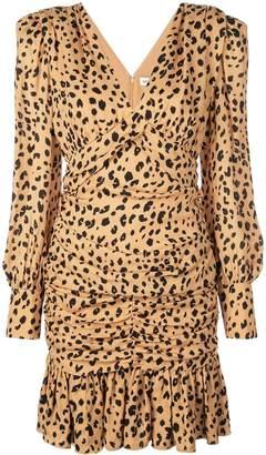 Nicholas leopard print day dress