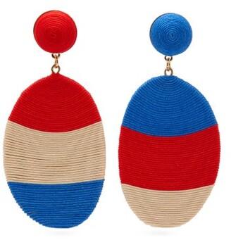 MaryJane Claverol Rondinone Corded Clip Earrings - Red
