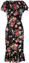 Dolce & Gabbana rose print dress - women - Silk/Spandex/Elastane - 42