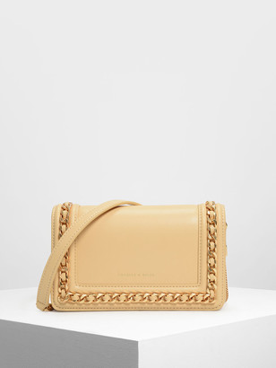Charles & Keith Chain Rimmed Clutch