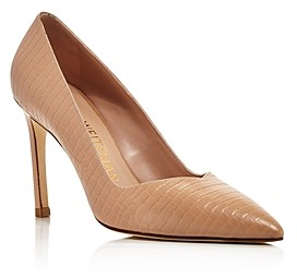 Stuart Weitzman Women's Anny Pointed-Toe Curved Pumps