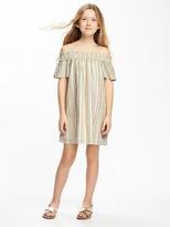 Old Navy Off-the-Shoulder Swing Dress for Girls