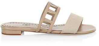 Manolo Blahnik Women's Abbey Flat Sandals