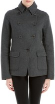 Max Studio Double Weave Wool Tailored Jacket