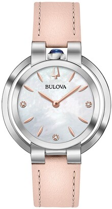 Bulova Women's Rubaiyat Diamond Quartz Analog Watch, 35mm - 0.01 ctw