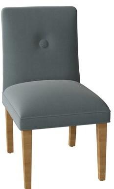 Sloane Whitney Fresno Tuffed Upholstered Parsons Chair Body Fabric: Trinity Denim, Leg Color: Natural