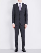 HUGO BOSS Slim-fit checked Super 110 wool suit