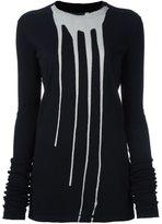 Rick Owens 'Bleach Vomit' sweatshirt