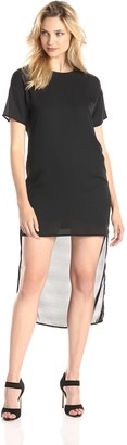 Lucca Couture Women's Short Sleeve Exaggerated Hi Lo Dress