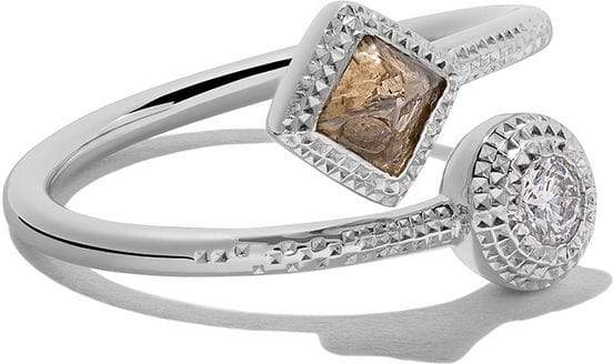 De Beers 18kt white gold Talisman diamond ring