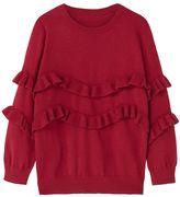 MANGO Girls Ruffled Detail Sweater